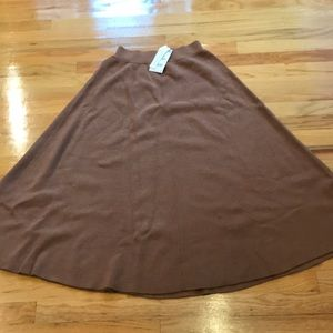 Zara wool blend camel long maxi skirt Sz L